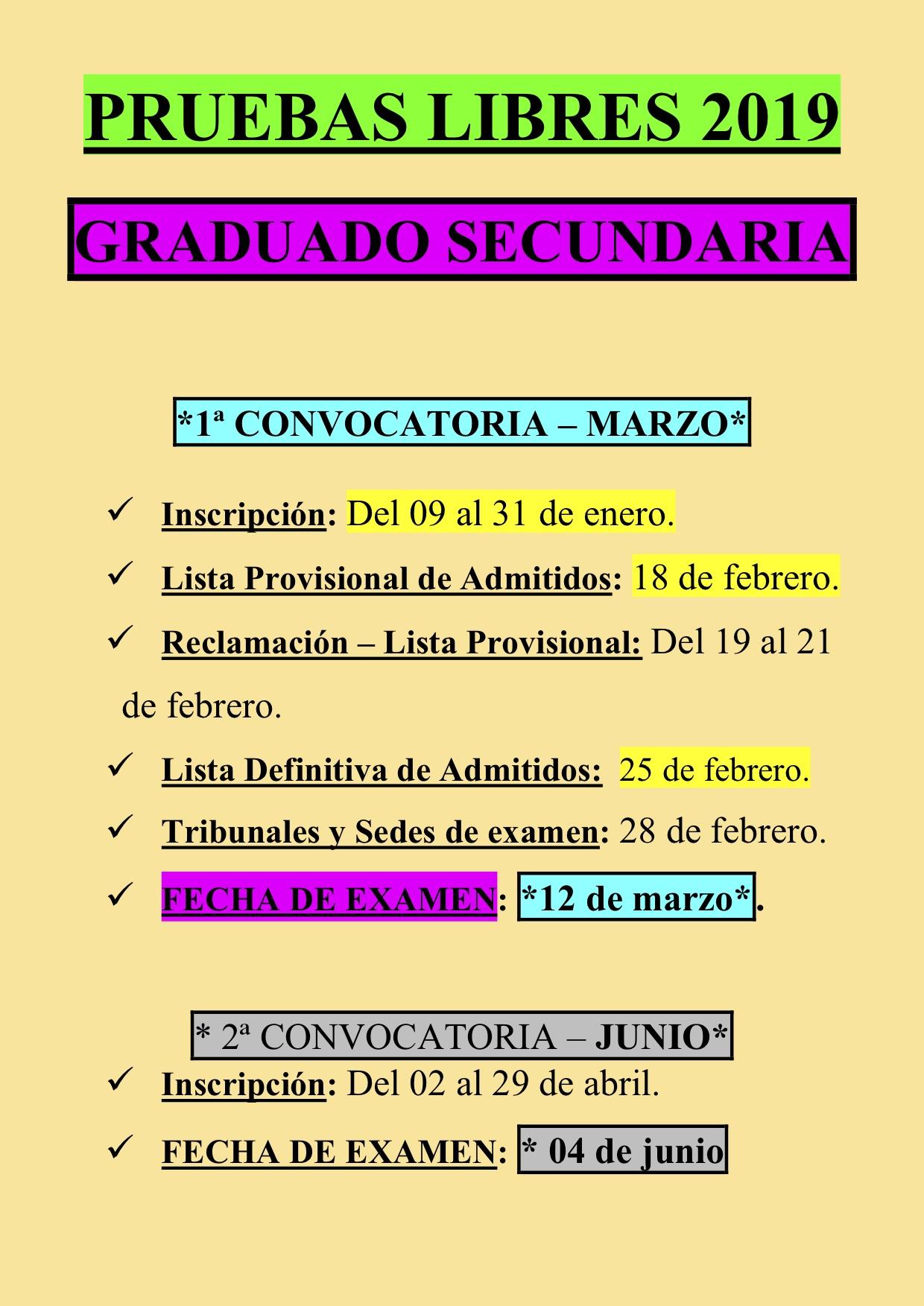 Prueba Libre GRADUADO SECUNDARIA 2019